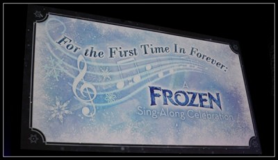 Keeping cool Frozen Sign