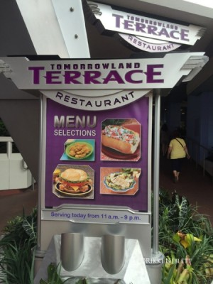 Menu Offerings at Tomorrowland Terrace
