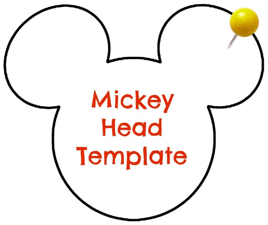 large mickey mouse head template - diy disney personalized dcl stateroom magnets