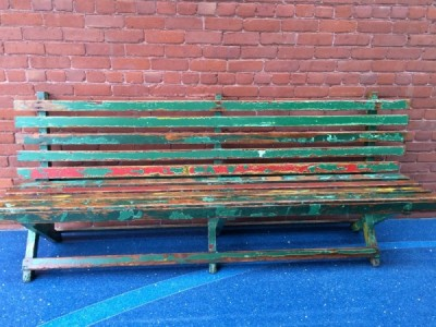 Park bench from Griffith Park