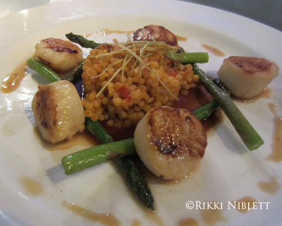 Carmalized Sea Scallops from Enchanted Garden