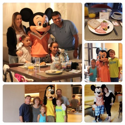 Character breakfast at Ravello