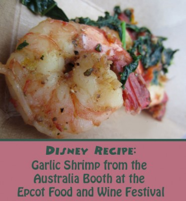 Garlic Shrimp from Australia Booth at the Epcot Food and Wine Festival
