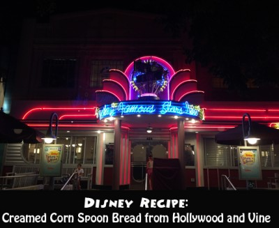 Disney Recipe for Creamed Corn Spoon Bread