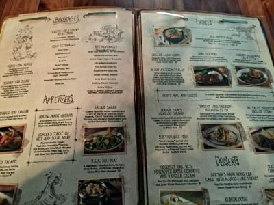 Skipper Canteen menu