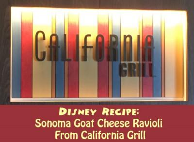 Sonoma Goat Cheese Ravioli from California Grill