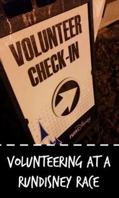 RunDisney Volunteer Sign