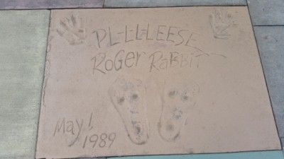 Roger Rabbit foorprints