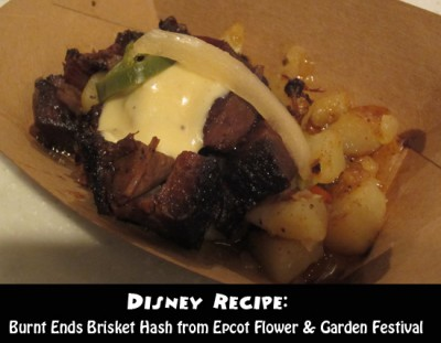 Disney Recipe - Burnt Ends Brisket Hash