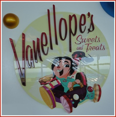 Vanellopes Sweets and Treats sign