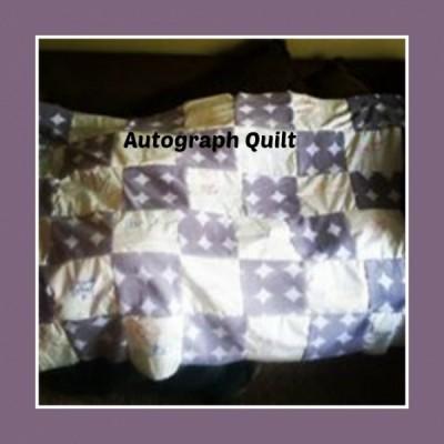 Autograph quilt RS