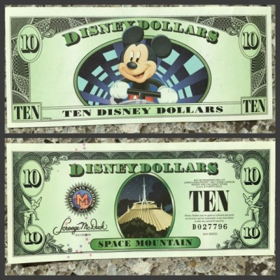 Disney Dollar $10 bill
