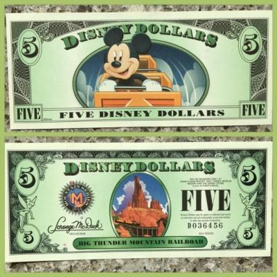 Disney Dollar $5