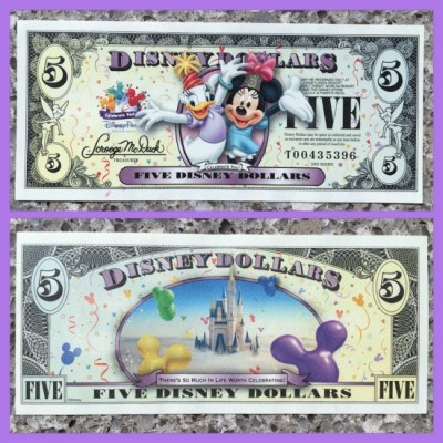 Disney Dollar $5 bill