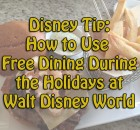 How to Use Free Dining During the Holidays at Walt Disney World
