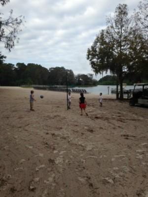 Tetherball on beach