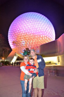 Closing out the day at Epcot