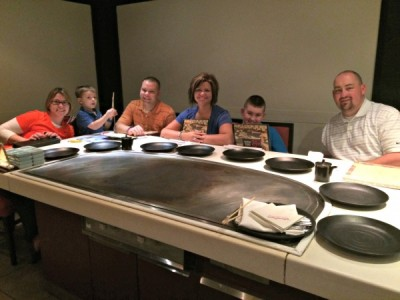 Dinner at Teppan Edo