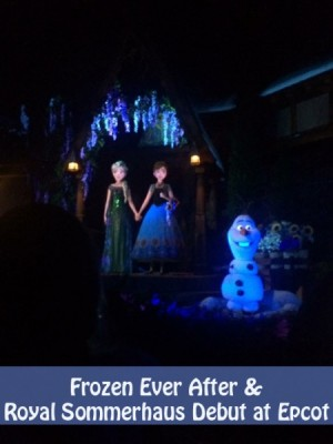 Frozen Ever After and Royal Sommerhaus Debut at Epcot