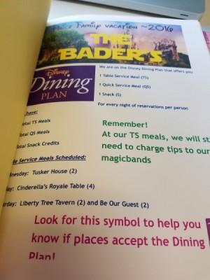 MFL Folder dining info