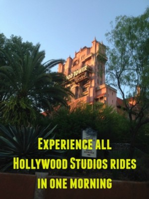 Disney's Hollywood Studios Morning Plan