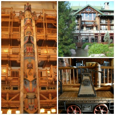 Wilderness Lodge Lobby Collage