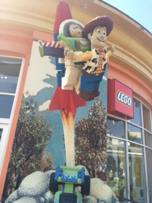 The Lego Store at Downtown Disneyland