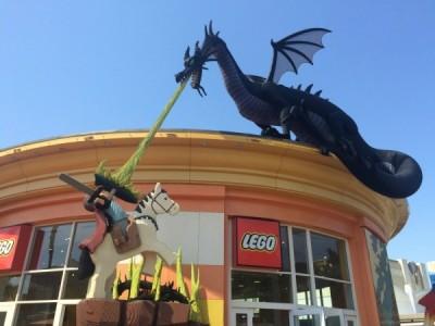 Lego Store dragon
