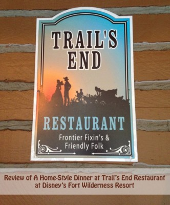 Review of Trail's End Restaurant at Disney's Fort Wilderness Resort