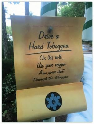 Toboggan sign