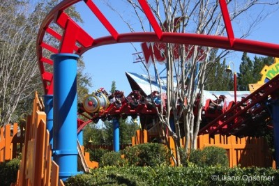 Woody Woodpecker coaster at Woody Woodpecker's Kidzone