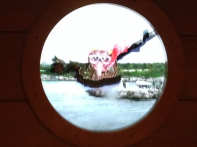 DCL porthole with Gonzo
