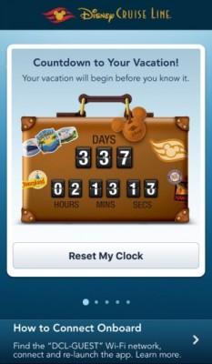 Disney Cruise Line App Countdown