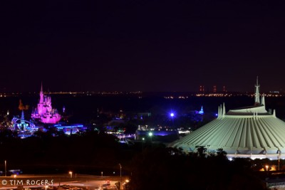 Magic Kingdom from the Top of the World Lounge
