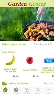 Garden Grocer Home Screen