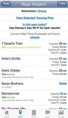 Lines App MK Wait Times