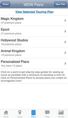 Lines App Touring Plans