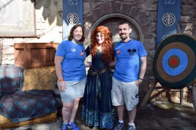 Visiting Merida inthe Magic Kingdom
