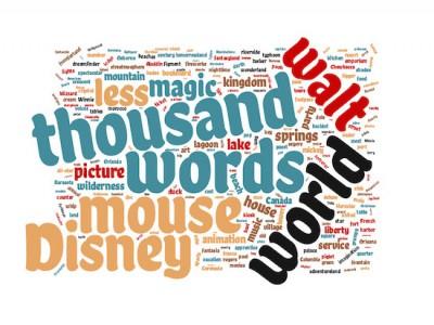 1000 Words Disney Word Cloud