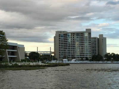 pros and cons of Disney resorts The backside of Bay Lake Tower