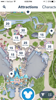 Disneyland app features on disney world map app, disneyland street map, six flags map app,