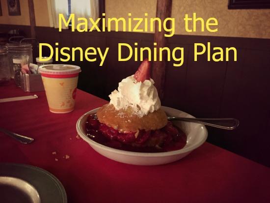 Maximizing the Disney Dining Plan