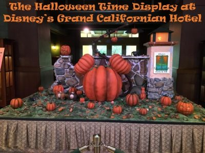 the halloween time display at disneys grand californian hotel is just one example located in disneys grand californian