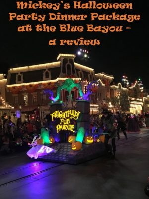 Mickeys Halloween Party Dinner Package Blue Bayou Review