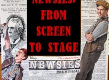 Newsies Tour Newsprint