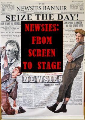 Newsies Tour Newsprint