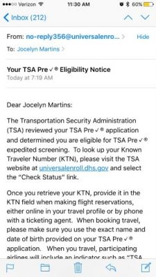 TSA PreCheck® Status and the Enrollment Process