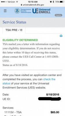 TSA PreCheck® Enrollment Process