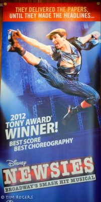 Newsies Banner with Dancer