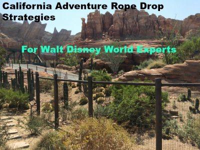 Disney California Adventure Rope Drop Tips